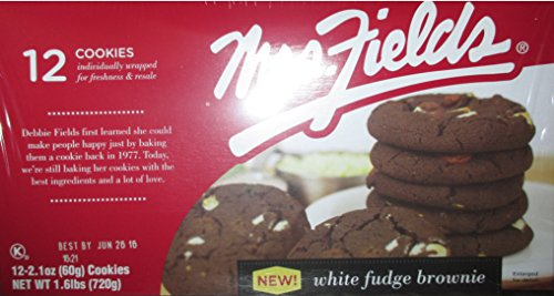 Mrs. Fields White Fudge Brownie Cookies, 12 count (2.1 oz per - Brownie White