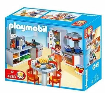 Playmobil 4283 Cuisine Equipee Amazon Fr High Tech