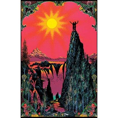 Garden Of Eden Black Light Poster