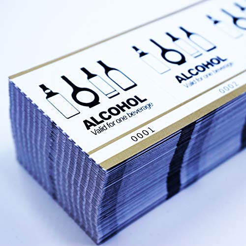 Drink Tickets - Fast & Affordable Alcohol Tickets by MyZone Printing (Gold, 1500)