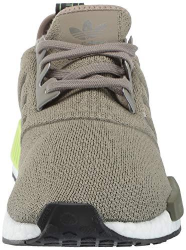 adidas Originals Men's NMD_R1 Running Shoe Trace Cargo/Solar Yellow, 4 M US by adidas Originals (Image #4)