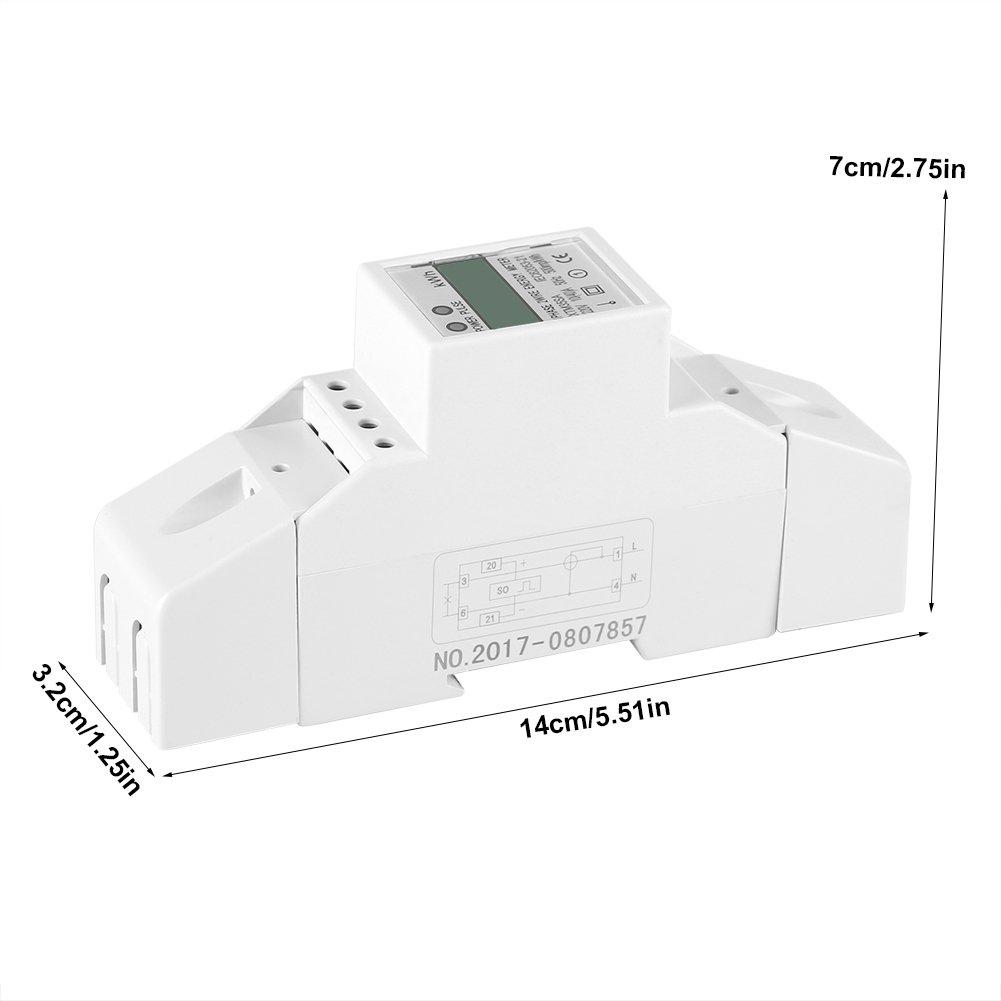 1 Chiffres,Din-rail Compteur /Électronique KWh 10 40 A Compteur d/Énergie Num/érique Monophas/é dAffichage LCD /Écran /à 7