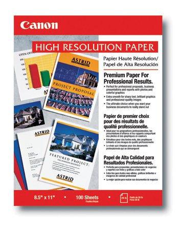 Canon HR-101 High Resolution Paper for Bubble Jet Printers (1033A011, 100-Sheets) (Bubble Jet Canon Printing)