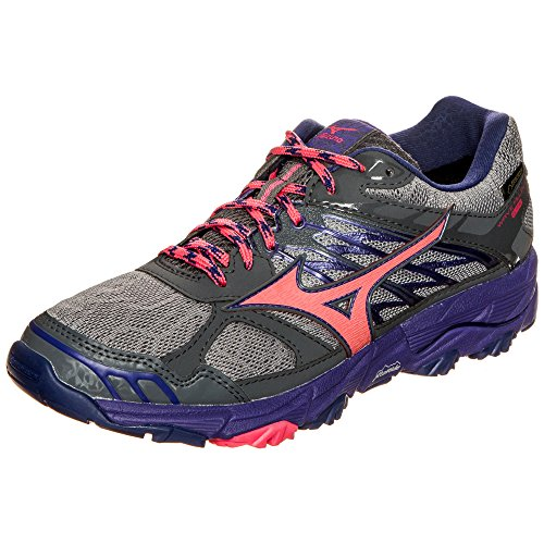 Mizuno Wave Mujin G-Tx Wos, Zapatillas de Running para Mujer Multicolor (Griffin/paradisepink/deepblue)