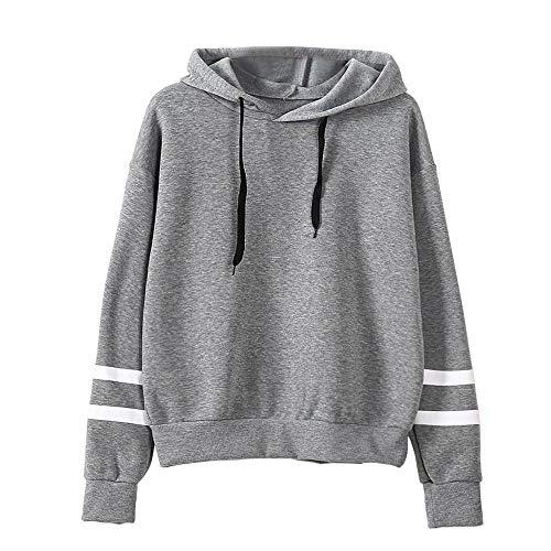 Trendinao Womens Sweatshirt Casual Hoodie Sweatshirt Jumper Hooded Pullover Long Sleeve Shirt Tops Blouse