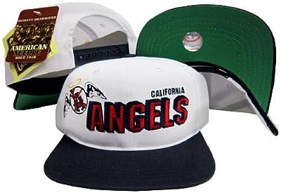 Los Angeles Anaheim Angels Two Tone Plastic Snapback Adjustable Plastic Snap Back Hat / Cap