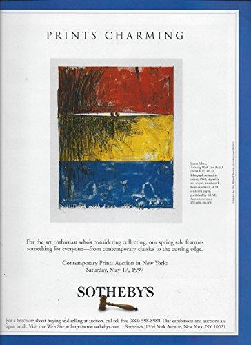 MAGAZINE AD For 1996 Sotheby's Art Auction House Jasper Johns (Painting Jasper)