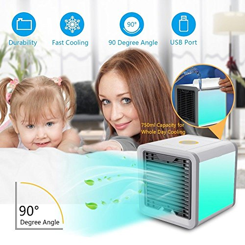 Portable Mini Air Cooler Ice Water Conditioner Evaporator USB Rechargeable Fan by CheGa