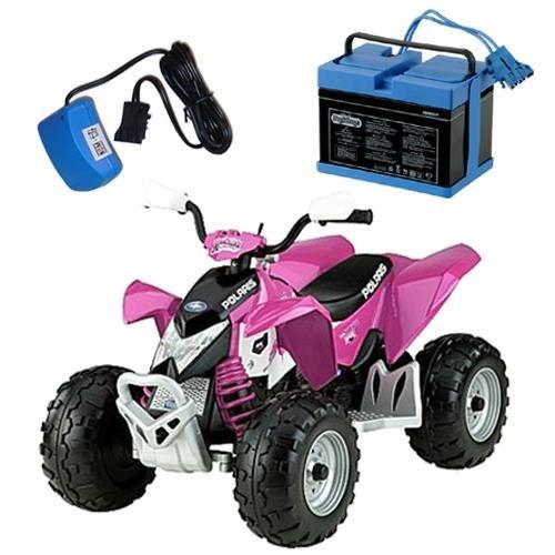 Peg Perego Igor0045kit Pink Polaris Outlaw Ride On Toy Kit   Pink