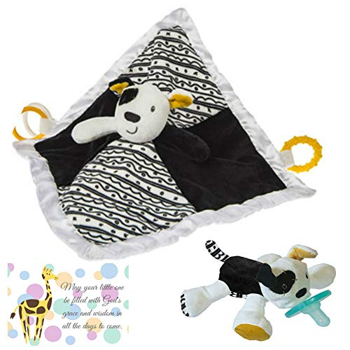 Puppy Baby Nursery Character Blanket and Matching Wubbanub with Mini Gift Card-Bundle of 3 Items (Dog) ()