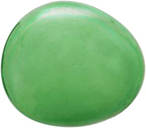 Evergreen Garden Beautiful Summer Green Art Glass Garden Decorative Stone - 8 x 7 x 3 Inches Fade and Weather Resistant Outdoor Decoration for Homes, Yards and Gardens