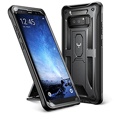 Galaxy Note 8 Case, YOUMAKER Heavy Duty Protection Kickstand Shockproof Clip Holster Case Cover for Samsung Galaxy Note 8 (2017 Release) WITHOUT Built-in Screen Protector (Military Cell Phone Covers)
