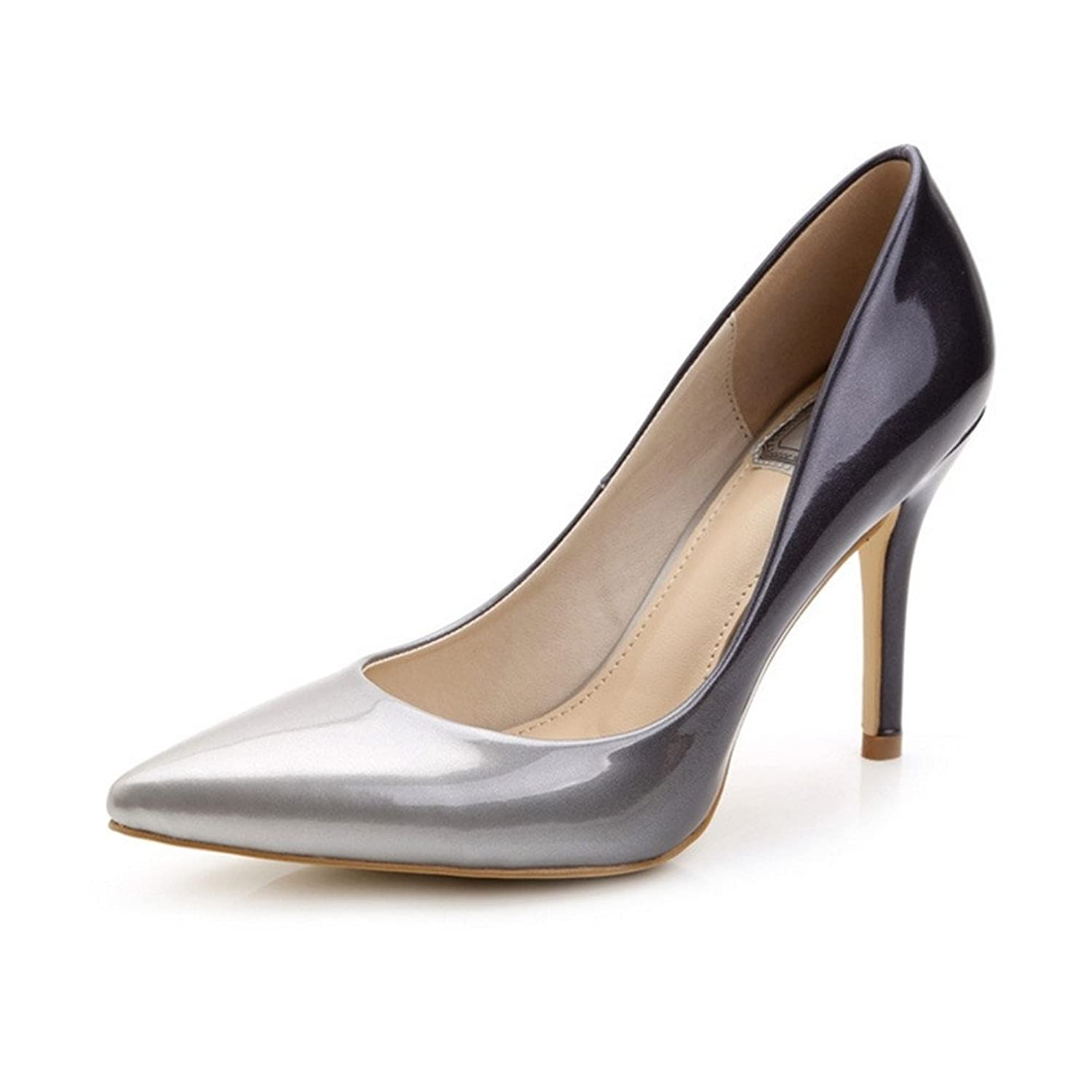 Women's Pointy Toe Gradients High Heel Shoes Dress Pumps