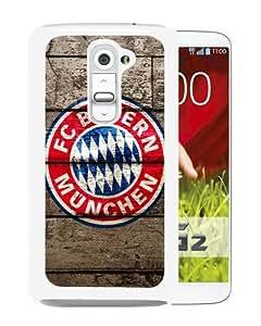Newest LG G2 Case ,FC Bayern Munich Logo White LG G2 Cover Case Fashionable And Popular Designed Case Good Quality Phone Case