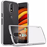 HRV Moto G4 Plus Transparent Soft Ultra Thin Flexible Protective Back Case Cover