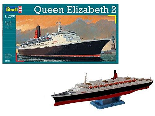 """Revell 05806 24.4 cm Queen Elizabeth 2"""" Model Kit"""