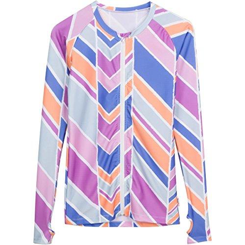 - SwimZip Women's Long Sleeve Rash Guard Zip Swim Shirt SPF 50+ Cali Girl Pink XL