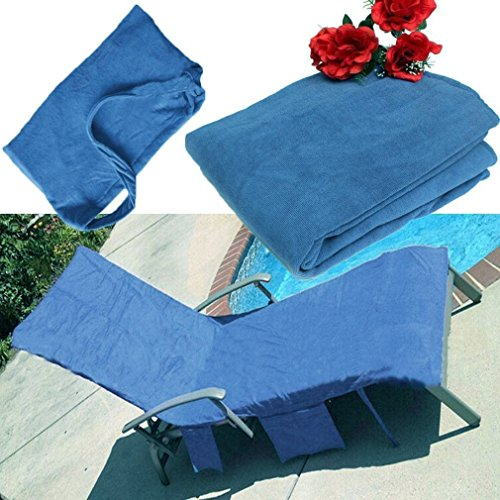 Exiao Lounger Mate Beach Towel Double Layers Sunbath Lounger Bed Chair Cover Towels