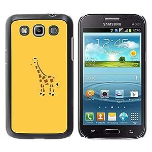 TopCaseStore / la caja del caucho duro de la cubierta de protección de la piel - Blue Drawing Minimalist Cute Drawing - Samsung Galaxy Win I8550 I8552 Grand Quattro