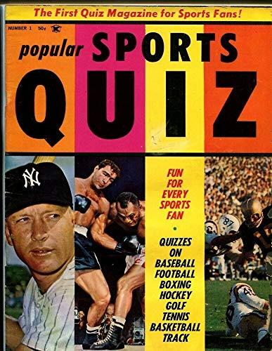 1962 Popular Sports Quiz Magazine Inaugural Issue Mickey Mantle Yankees 50262b27