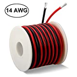 14 Gauge Silicone Wire 40 Feet [20 ft Black and 20 ft Red] - Ultra Soft and Flexible/High Temperature Resistant - 600V 14 AWG Silicone Rubber Wire with 400 Strands of Tinned Copper Wire by MILAPEAK