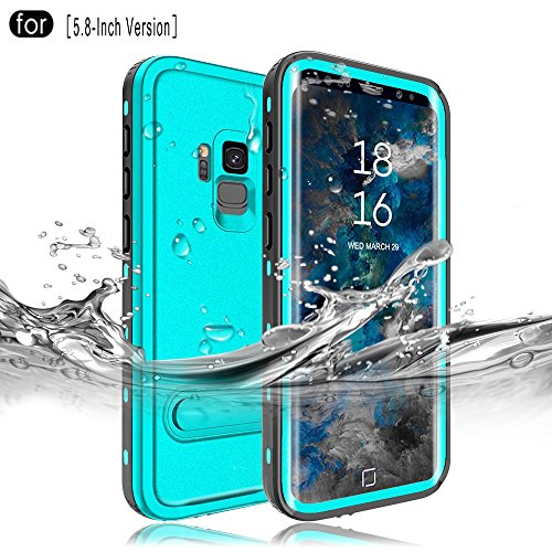 RedPepper Samsung Galaxy S9 Waterproof Case[5.8-Inch], IP68 Certified Full Sealed Underwater Protective Cover, Shockproof, Snowproof, Dirtproof for Outdoor Sports (Grass Blue)