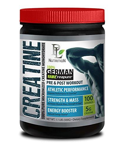 Post Workout for Men – German CREATINE Powder – MICRONIZED CREATINE MONOHYDRATE CREAPURE 500G 100 Servings – Endurance…