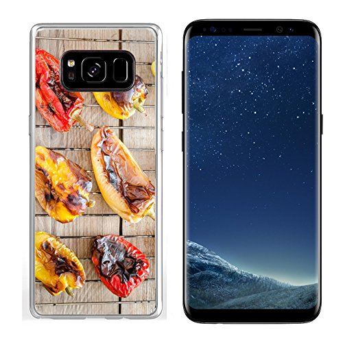 Luxlady Samsung Galaxy S8 Clear case Soft TPU Rubber Silicone IMAGE ID 31678188 grilled bell peppers
