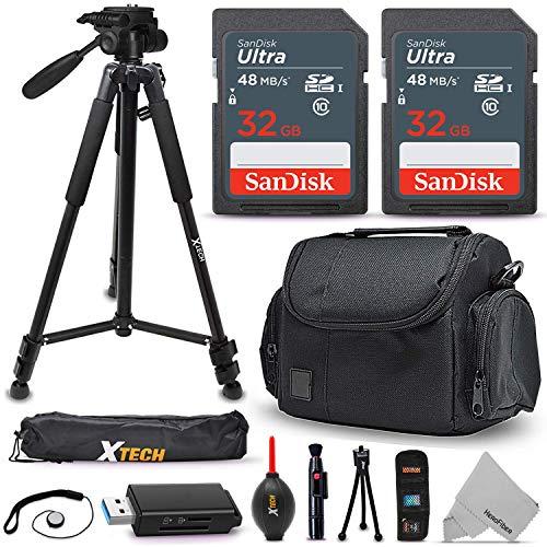 Universal Camera Accessories Kit, Includes: 64GB SD Memory, Premium Camera Case, 60″ Tripod, Card Reader + Accessory Bundle, Compatible with Canon, Nikon, Sony, Fujifilm, Coolpix, PowerShot Cameras