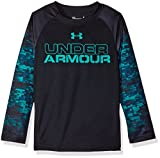 Under Armour Toddler Boys' Long Sleeve Tee Shirt, Black/Green, 2T