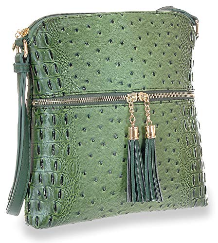 Crossbody Accented Accented Tassel Sling Olive Crossbody Sling Olive Accented Tassel Tassel wqqH8ApR