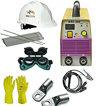Tools Centre SN200 / WS200 Compact Dynamic 200Amp Welding Inverter Machine-Arc 200 With Free Safety Equipments & Welding Accessories combo offer.