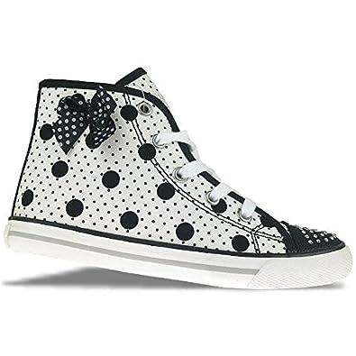 best value 74efb 9f42b Primigi College G90 High Top Sneaker weiß schwarz gepunktet ...
