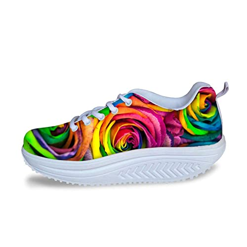 e96994ceaeafa Amazon.com | Bigcardesigns Wedge Toning Shoes Women Ladies Floral ...