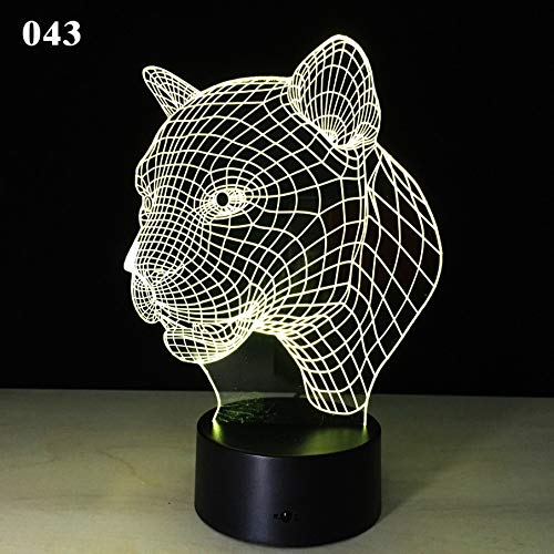 Target Night Light Tiger Leopard Lion Head Induction Light Led Table Lamp Novelty Creative Gift 3D Night Light 5-Multicolored Bluetooth Speaker Decorative Items for Living Room