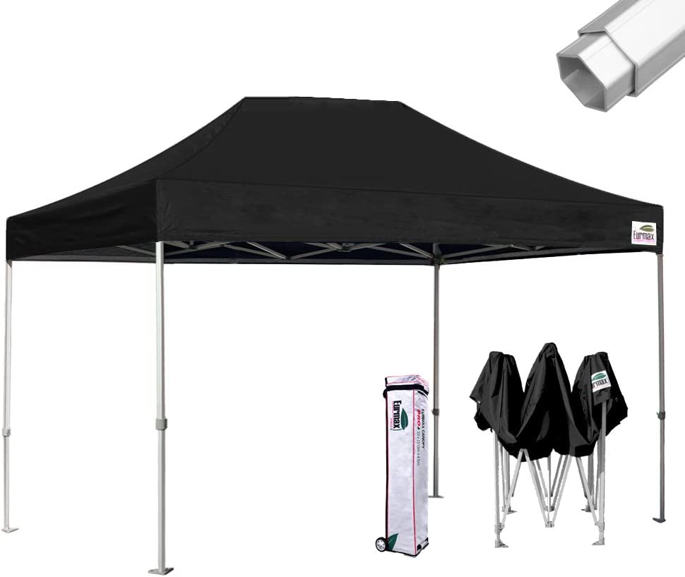 Amazon Com Eurmax Pro 10x15 Pop Up Canopy Wedding Party Tent Instant Outdoor Gazebo Pavilion Canopies Bbq Cater Events Aluminum Frame Commercial Grade Bonus Roller Bag Black Garden Outdoor