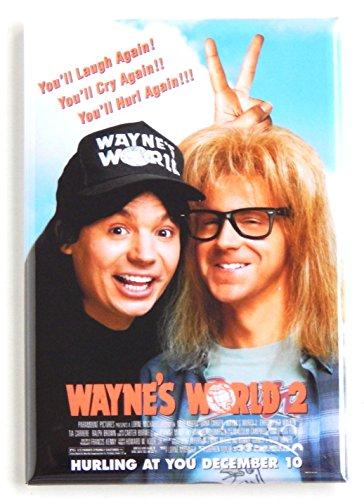 Wayne's World 2 Movie Poster Fridge Magnet (2.5 x 3.5 inches)