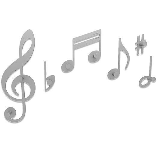 CalleaDesign - Perchero de Pared diseño Notas Musicales ...