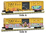Micro-Trains MTL N-Scale 50ft Box Car Railbox Mardi Gras Graffiti #39264