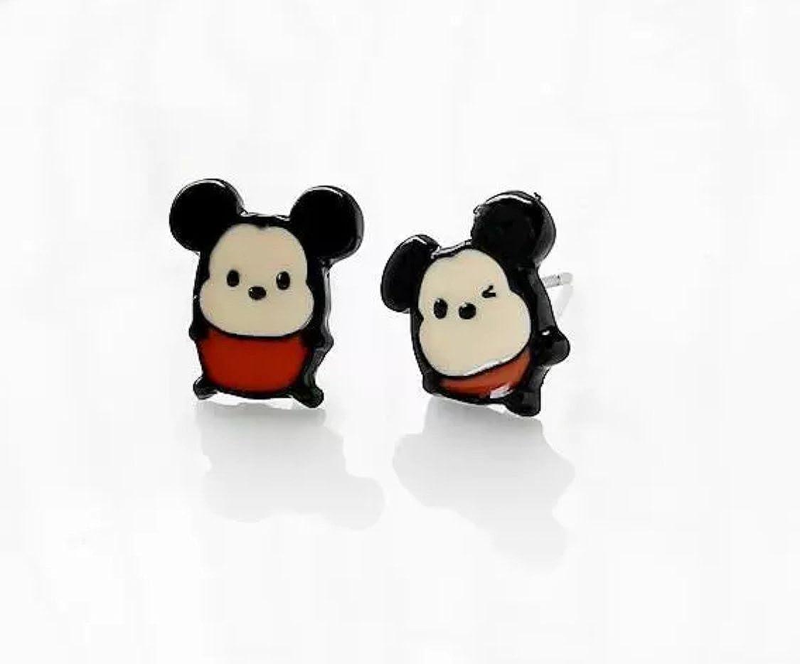 Disney TSUM TSUM Inspired Mickey Mouse Metal Enamel Stud Earrings