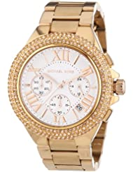 Michael Kors MK5636 Womens Chronograph Camille Rose Gold-Tone Stainless Steel Bracelet Watch