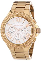 Michael Kors MK5636 Women's Chronograph Camille Rose Gold-Tone Stainless Steel Bracelet Watch
