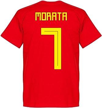 Retake Camiseta del Equipo Morata 7 de España, Color Rojo, Hombre, Rojo, Extra-Small: Amazon.es: Deportes y aire libre