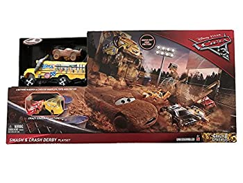 Disney Pixar Cars 3 Crazy 8 Crashers Smash & Crash Derby Playset 16