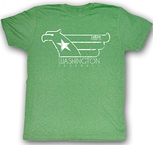 Usfl Washington Federals T Shirt Whitehawk Adult Green Tee Shirt  Large