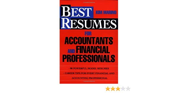 Best Resumes for Accountants and Financial Professionals ...