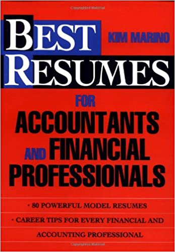 resumes for accountants and financial professionals