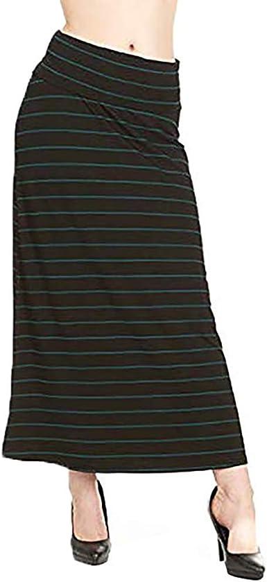 Amazon Com X America Falda Maxi Para Mujer Falda Larga Plegable Tallas Pequenas Y Grandes Para Mujer Clothing
