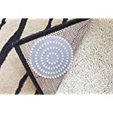 Non-Slip Rug Pads For Rugs On CARPET. Designed For RUG On CARPET Anti-Slip. Limits Rugs/Exercise/Door Mats From Moving On CARPET. Includes 4 Spiked Plastic Adhesive Rug Pads. Spiked Pads Limit Rugs From Shifting On Carpet. BRAND NEW! Carpet Anchor.