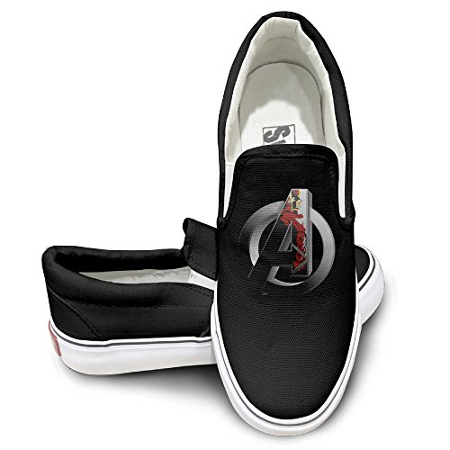TAYC Avengers Iron Man Logo Personality Canvas Shoes Black (Boogie Man Costume)
